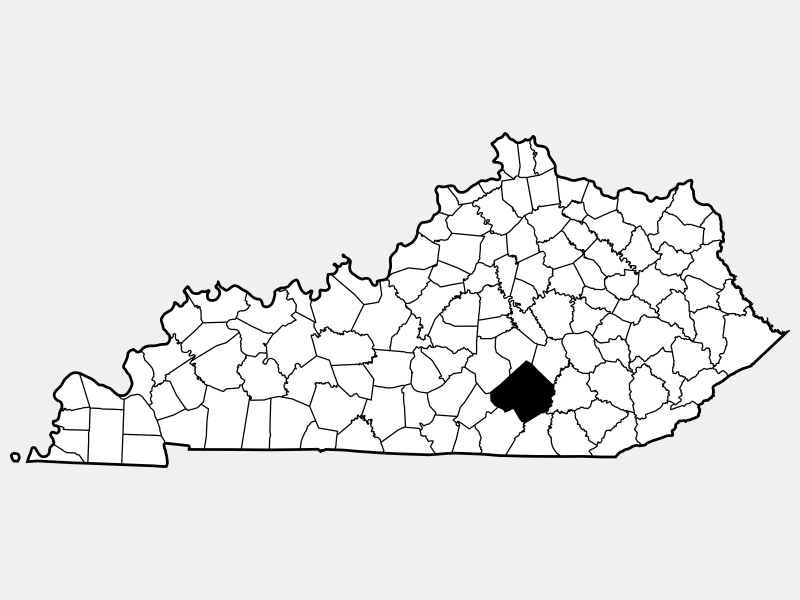 Pulaski County, KY locator map
