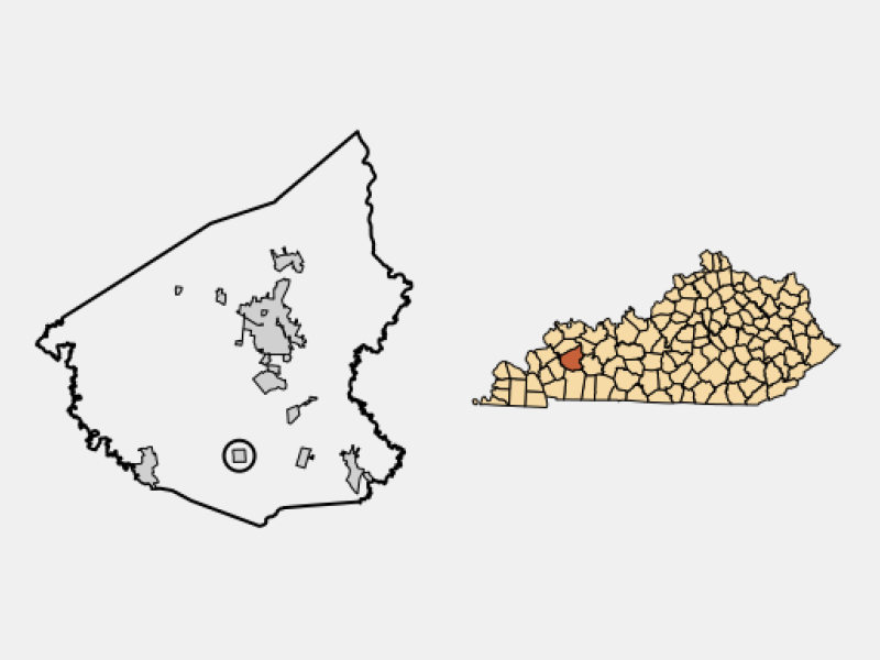 Saint Charles locator map