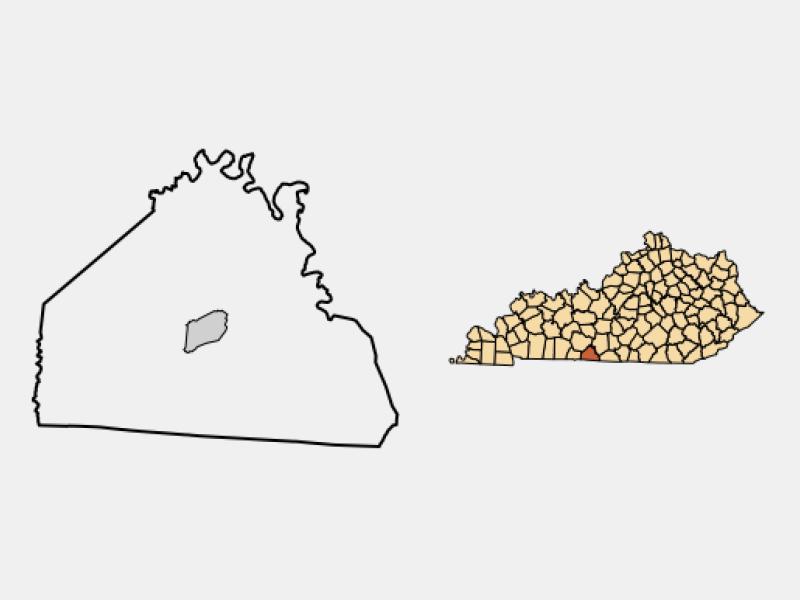 Scottsville locator map