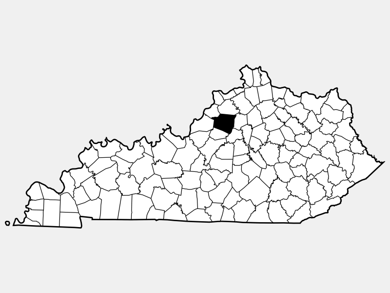 Shelby County locator map