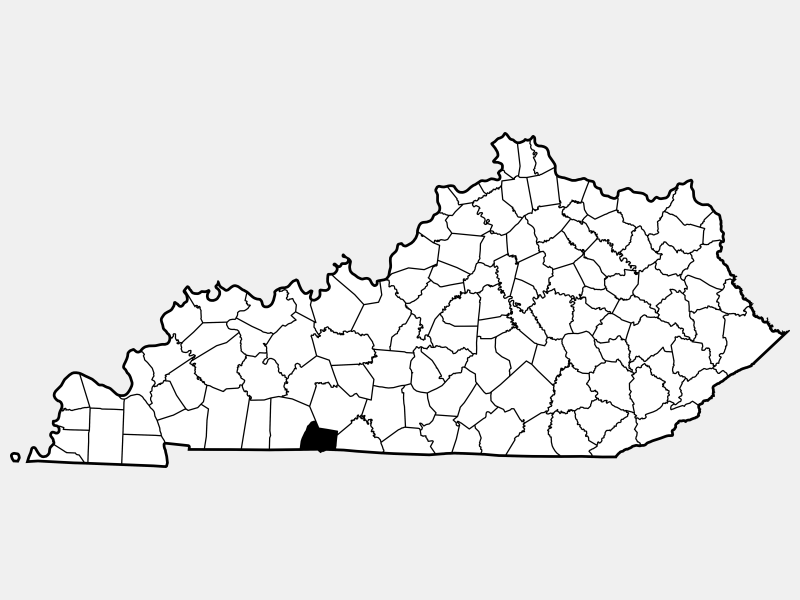 Simpson County locator map