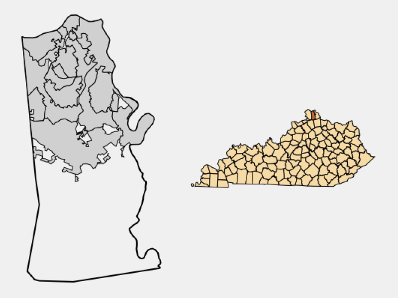 Taylor Mill locator map