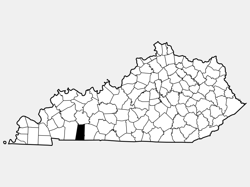 Todd County location map