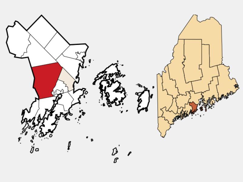 Warren location map