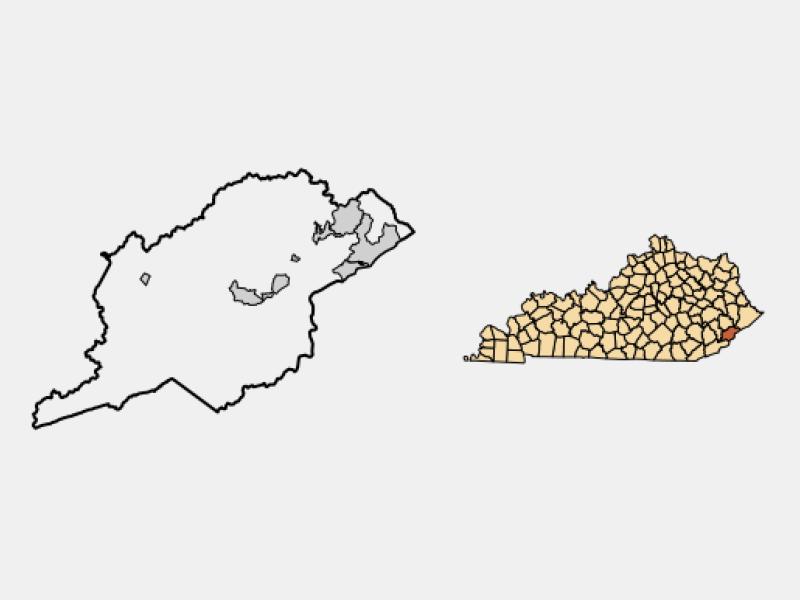 Whitesburg locator map