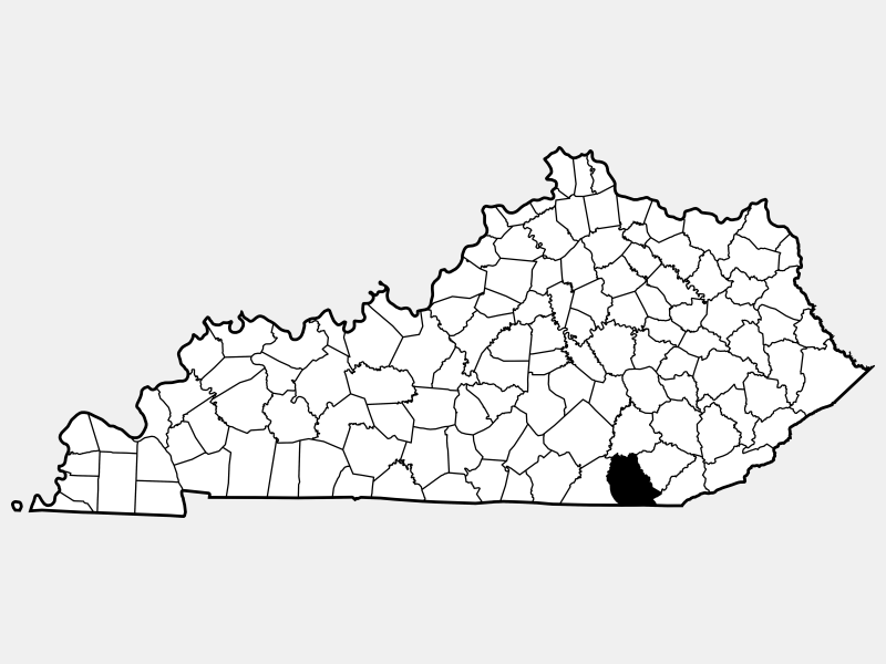 Whitley County locator map