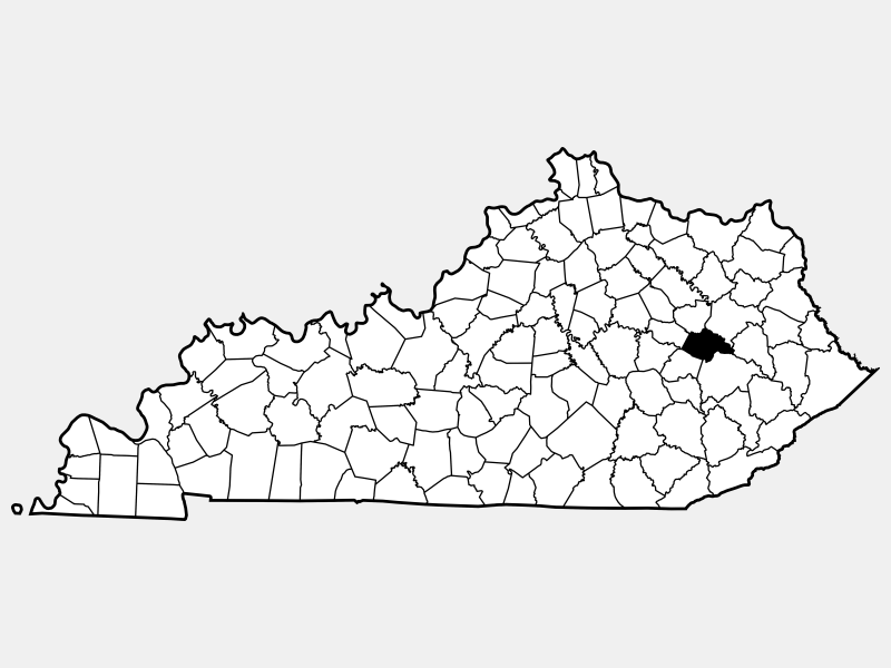 Wolfe County location map