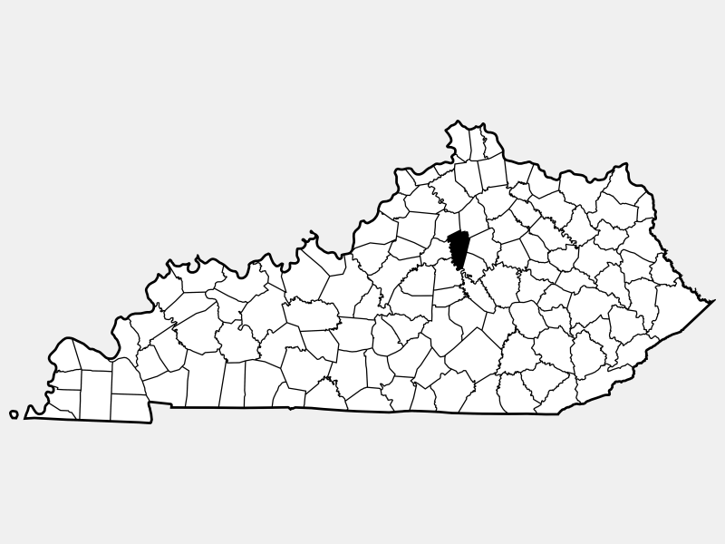 Woodford County locator map