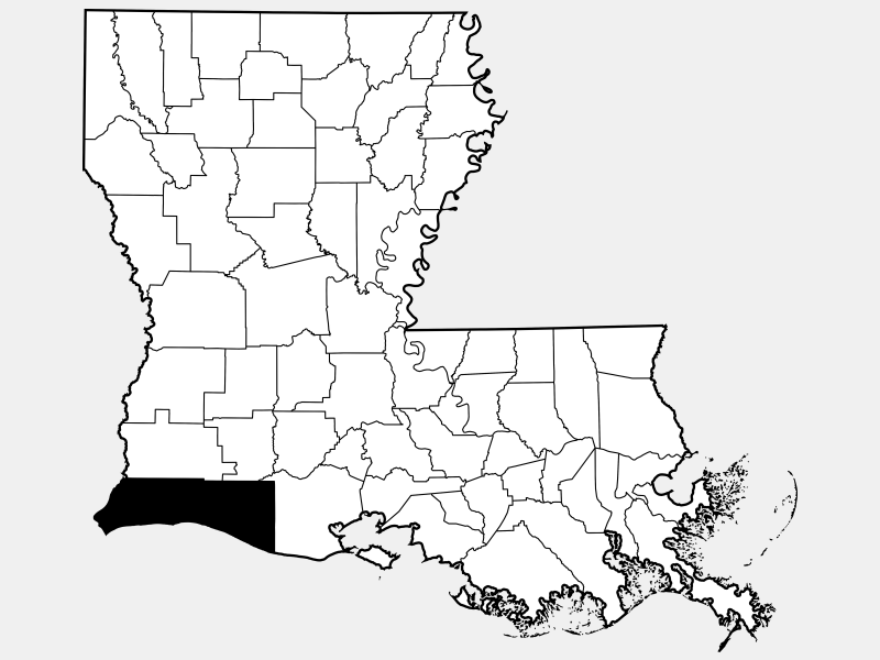Cameron Parish location map