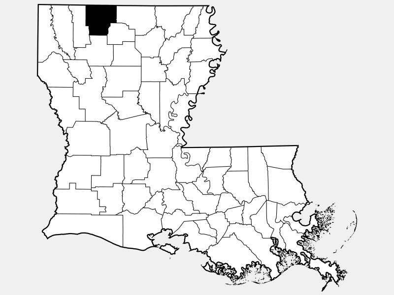Claiborne Parish locator map