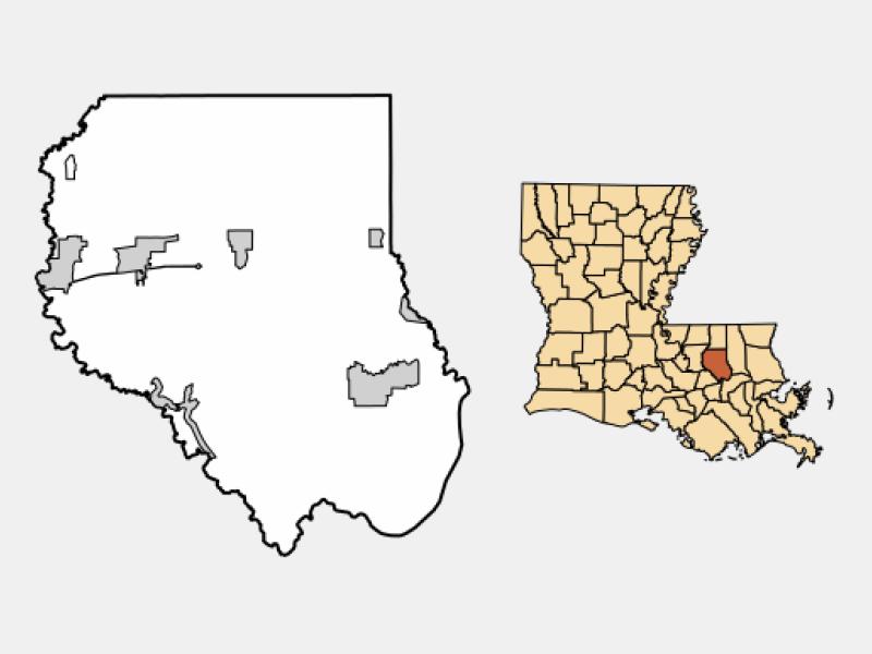 Denham Springs locator map