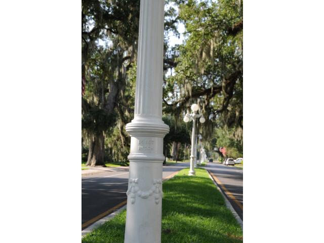 Historic Lampposts on Main Street - Franklin  Louisiana image