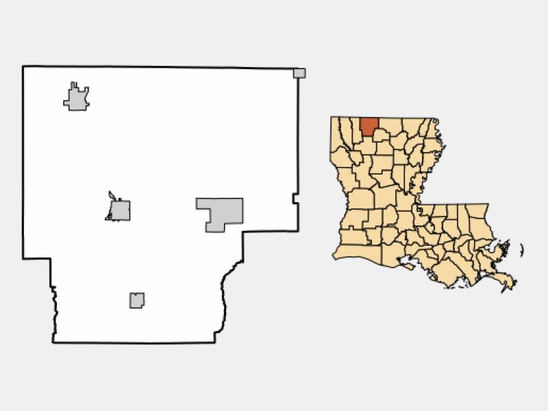 Haynesville location map