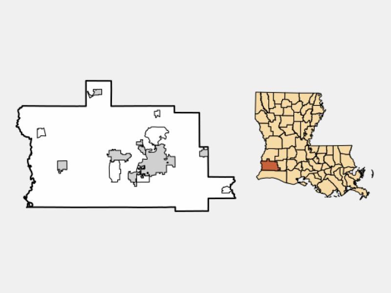 Lake Charles locator map