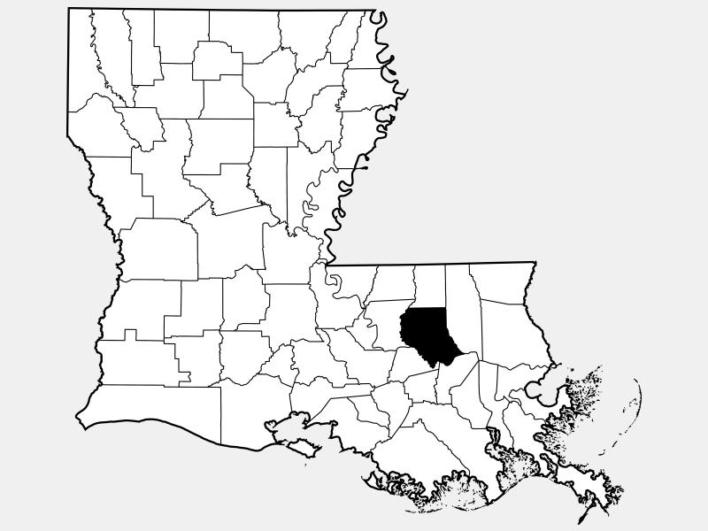 Livingston Parish locator map