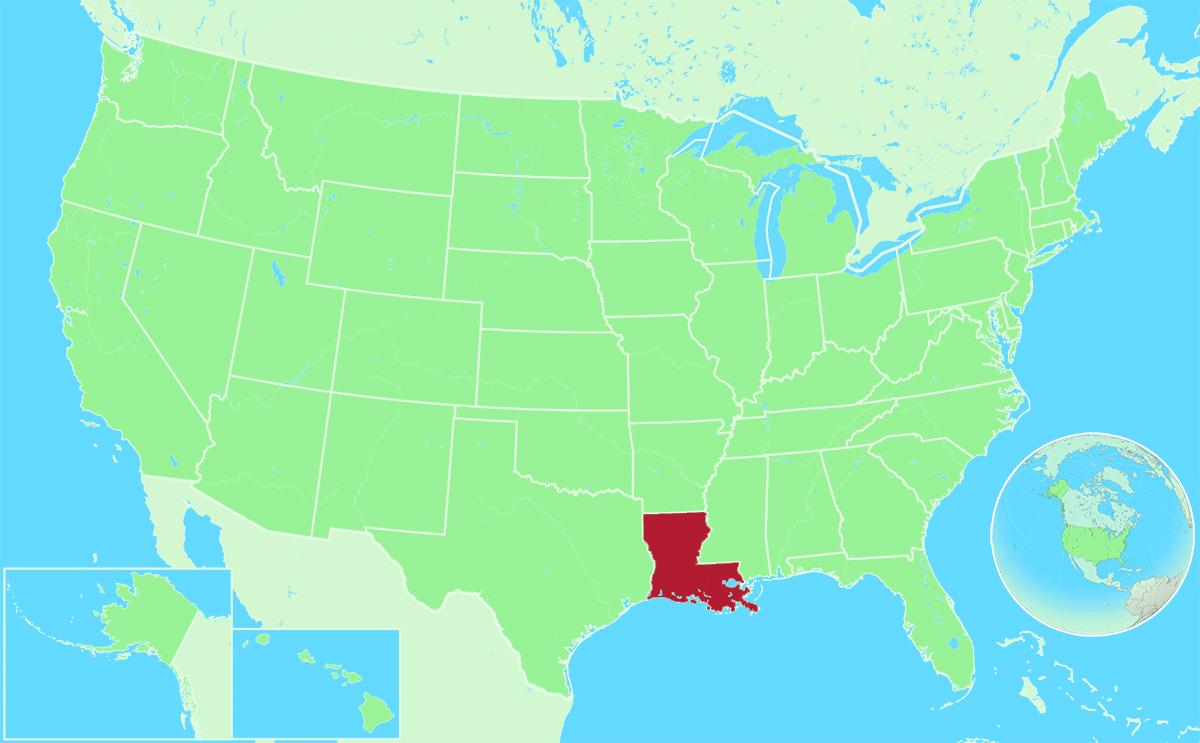 Louisiana locator map