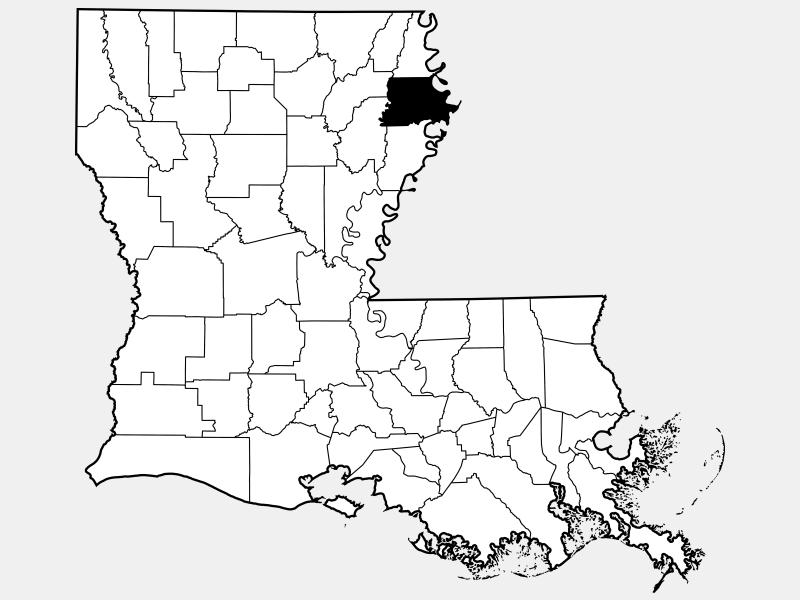 Madison Parish location map