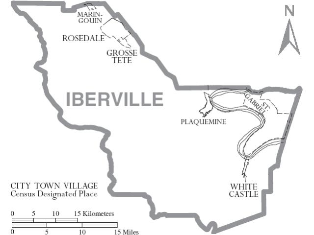 Plaquemine location map