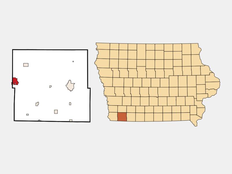 Shenandoah location map