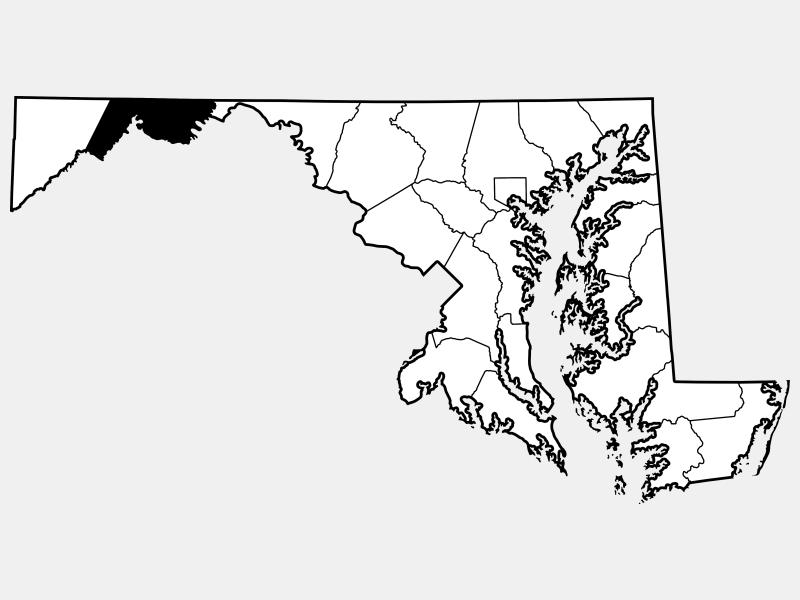 Allegany County locator map