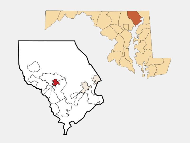 Bel Air locator map