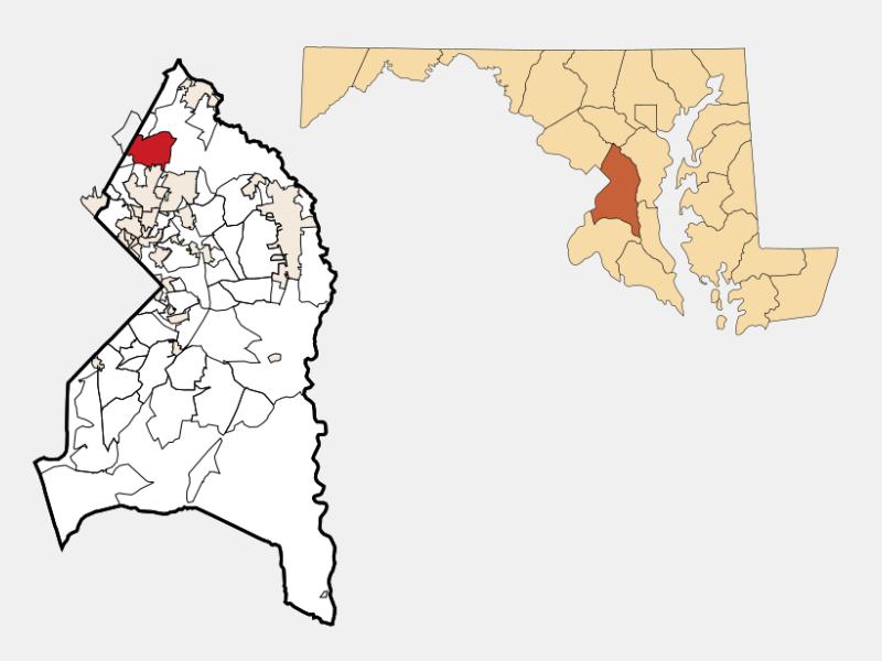 Beltsville locator map