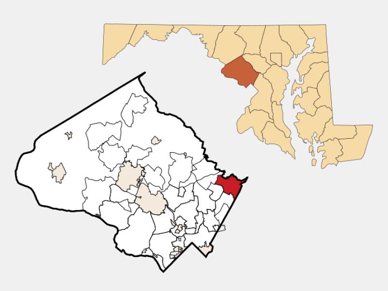 Burtonsville locator map