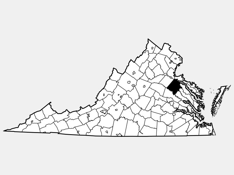 Caroline County locator map