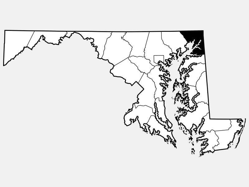 Cecil County locator map