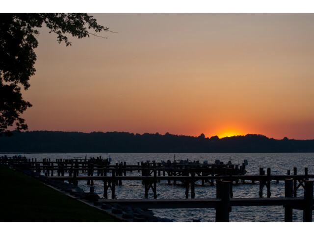 Sunset over North Beach  Maryland image