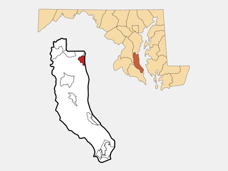 Chesapeake Beach locator map