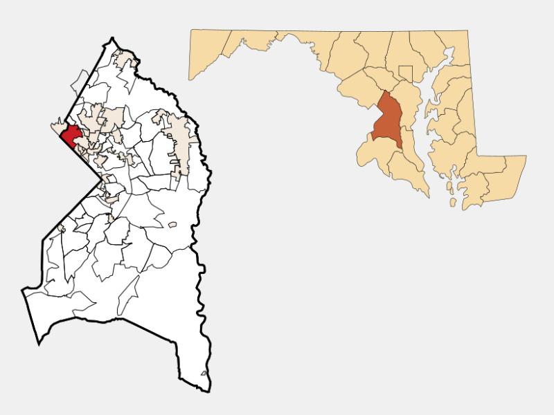 Chillum locator map