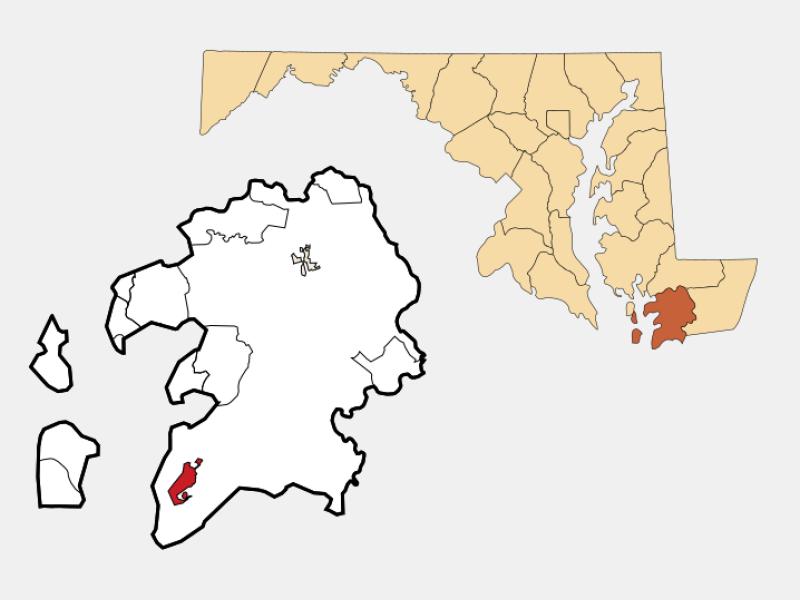 Crisfield location map