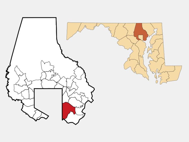 Dundalk locator map