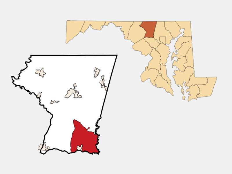 Eldersburg locator map