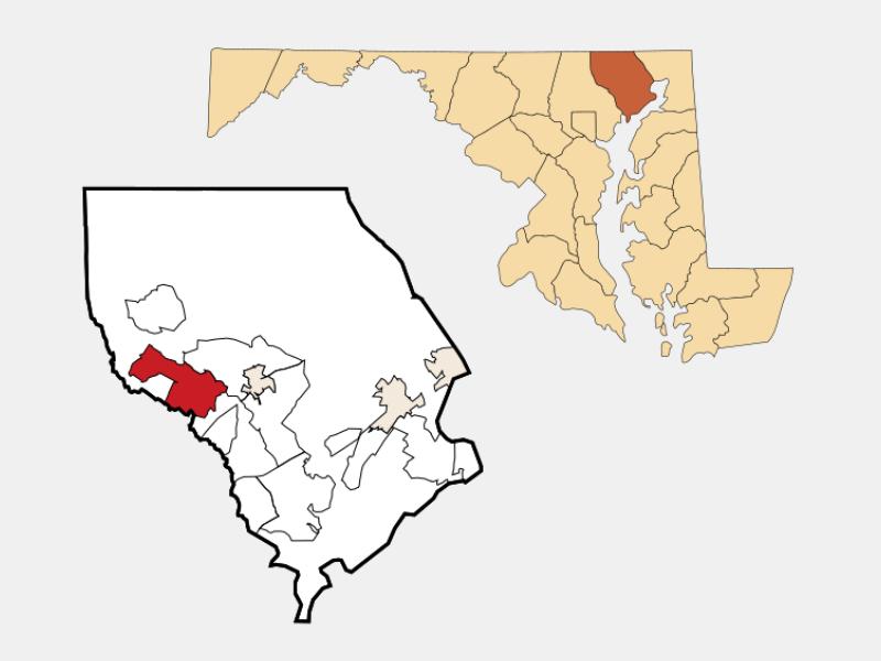 Fallston locator map