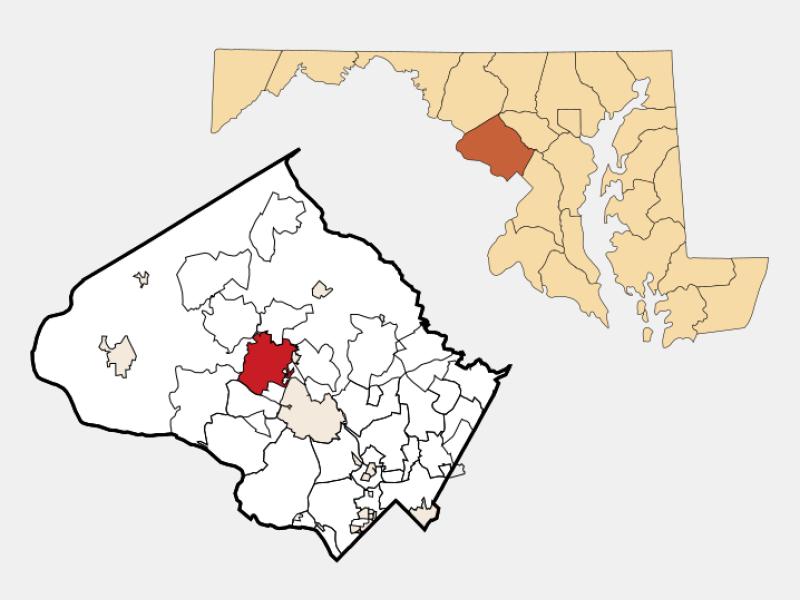 Gaithersburg locator map
