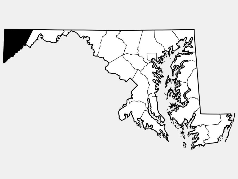 Garrett County locator map