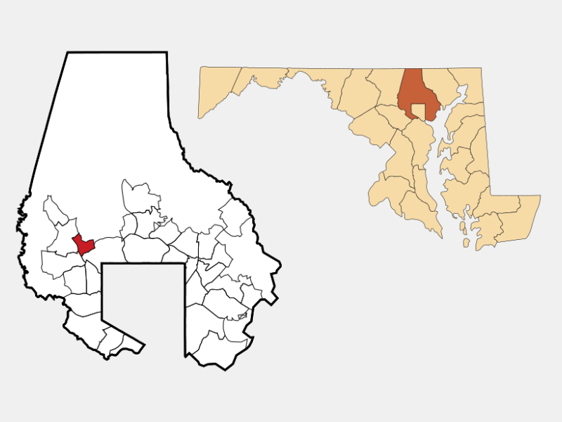Garrison location map