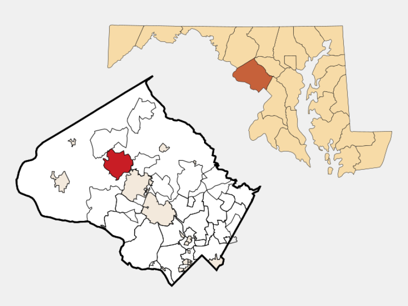 Germantown locator map