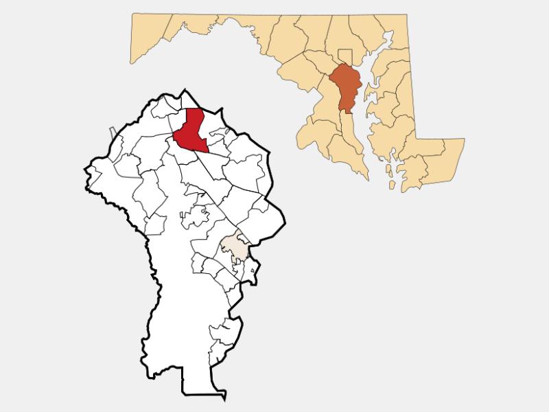 Glen Burnie locator map