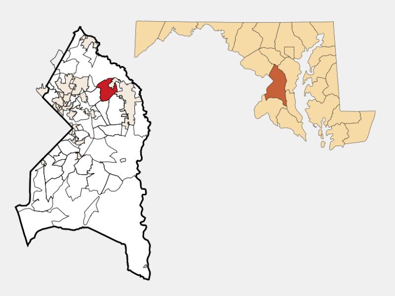 Glenn Dale locator map