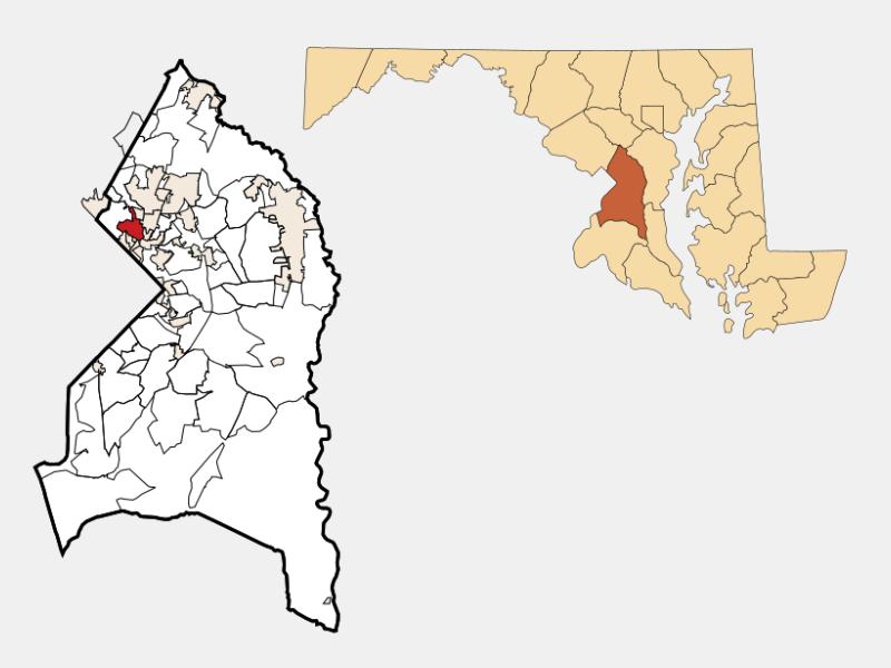 Hyattsville locator map
