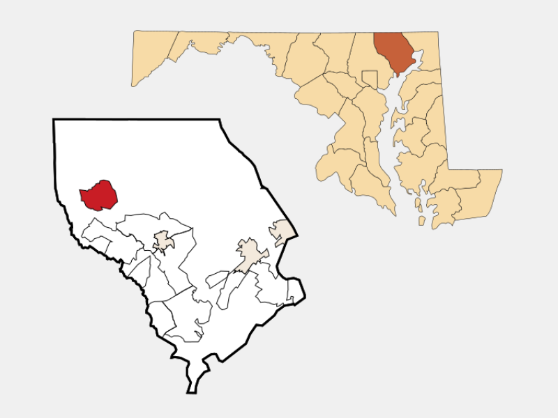 Jarrettsville locator map