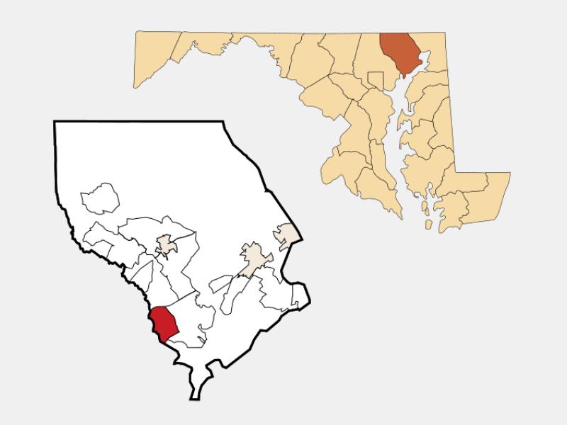 Joppatowne locator map