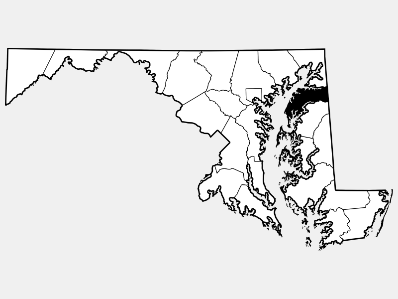 Kent County locator map