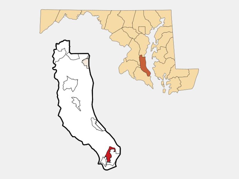 Lusby locator map