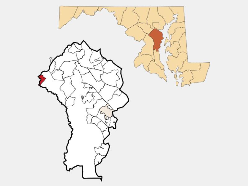 Maryland City location map