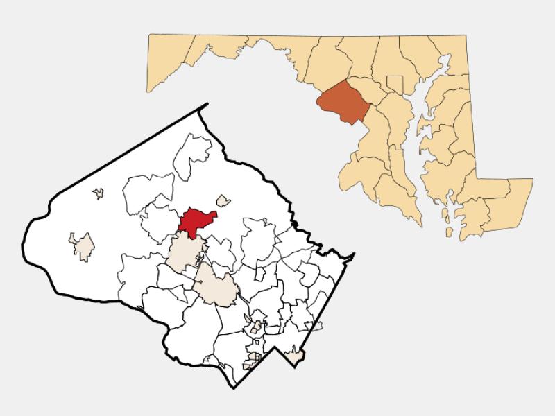 Montgomery Village locator map