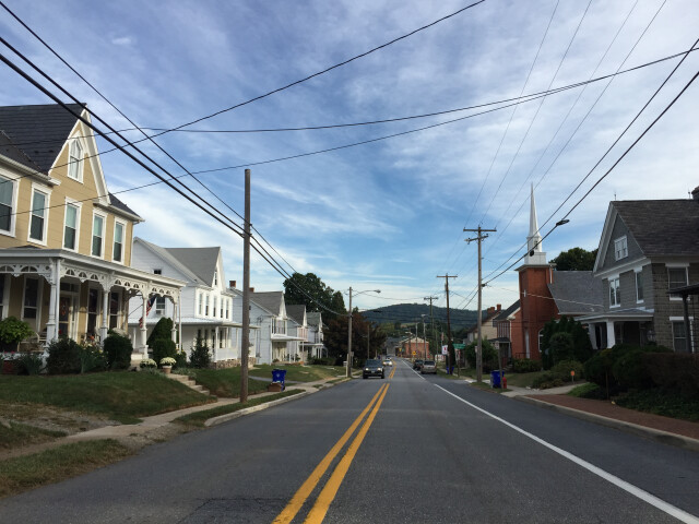2016-09-21 08 45 02 View north along Maryland State Route 17 'Main Street' between Cedar Street and Poplar Street in Myersville  Frederick County  Maryland image